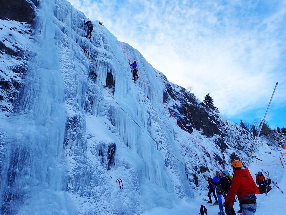 Cascade de glace de Métabief