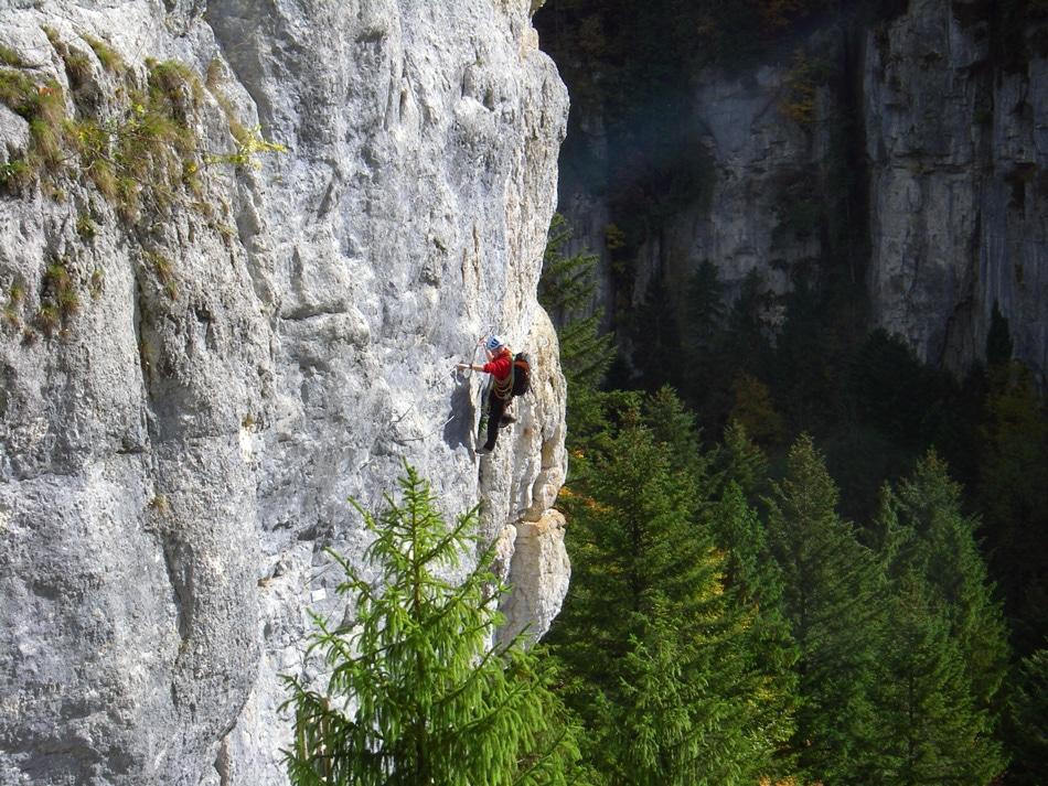 Via-ferrata de Charquemont dans le département du Doubs, 25