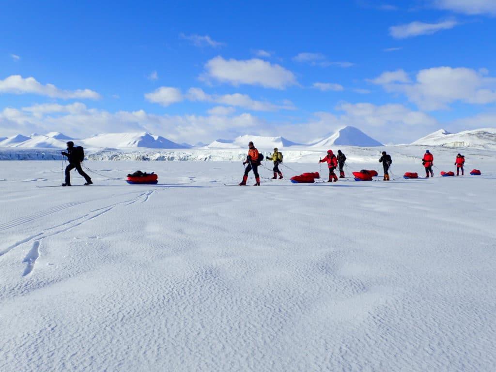 Raid en ski au pôle nord