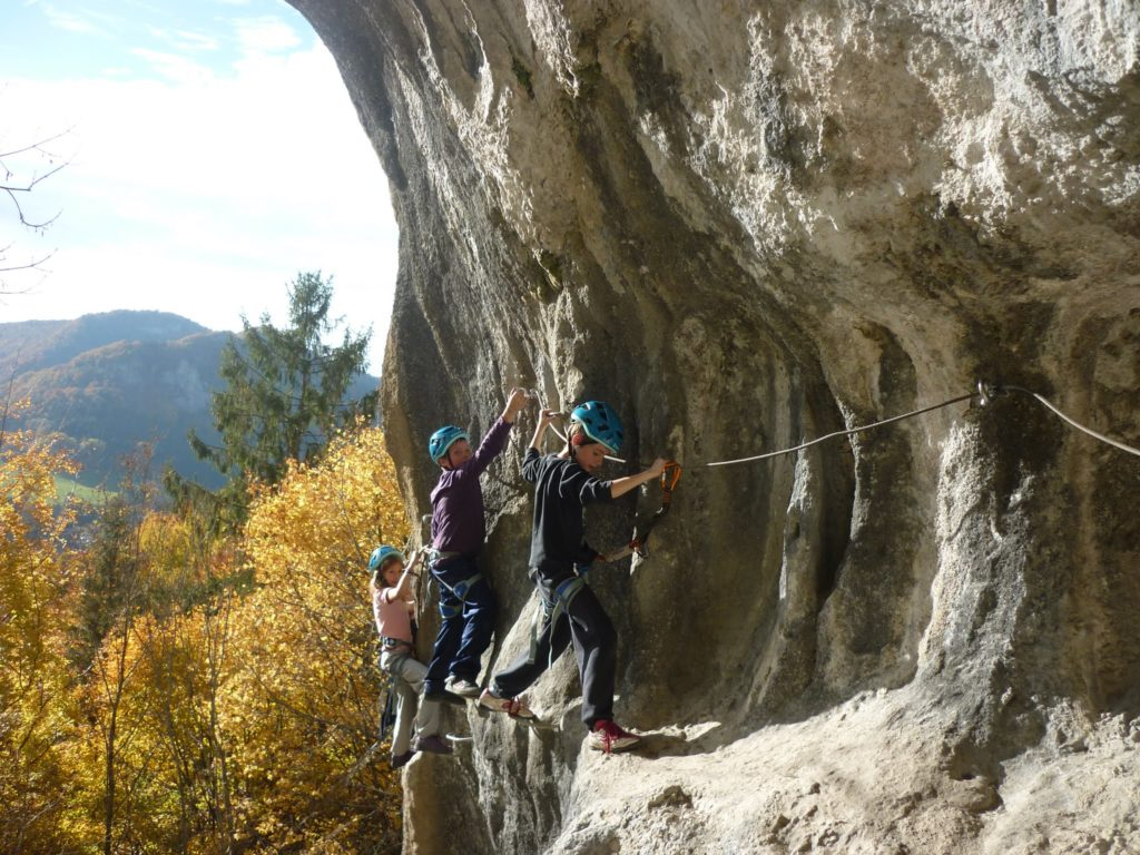 Via-ferrata d'Ornans dans le Doubs